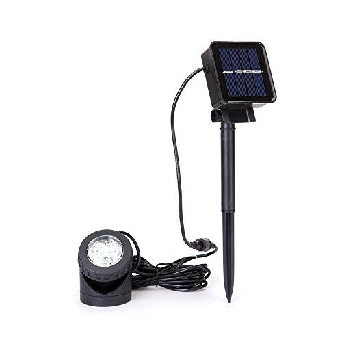 Solarbetriebene Teichlichter Unterwasser solar licht mit 6 LED 90 ° Verstellbarer Outdoor Tauchbaustein für Garten, Hof, Springbrunnen, Pool