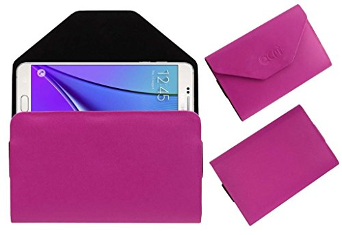 Acm Premium Pouch Case For Samsung Galaxy Note 5 Flip Flap Cover Holder Pink  available at amazon for Rs.329
