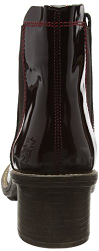 FLY London Damen Calk695fly Chelsea Boots Rot (BURGUNDY/RED 001)