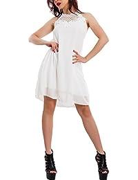 Toocool Vestito donna mini abito velato ricamo pizzo elegante svasato sexy  corto VB-9257 db0a4e7545e
