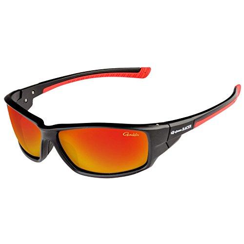 Gamakatsu Racer Polarisationsbrille Gray Red Mirror Angler Brille Semi Hard Case