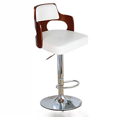 Ali@ Style européen Fauteuils de bar Tabourets de bar Tabouret de barrage Chaise de chaise haute en bois massif Chaise de réception Chaise haute (Couleur : Blanc)