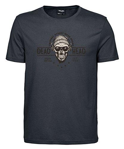 Herren T-Shirt Luxury Tee Bearded Deadhead SD Dark Grey