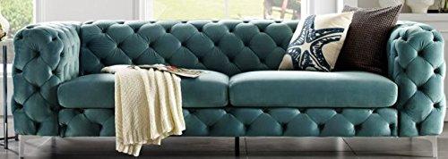 Casa Padrino Chesterfield Sofa in Aqua 238 x 97 x H. 73 cm – Modern Chesterfield