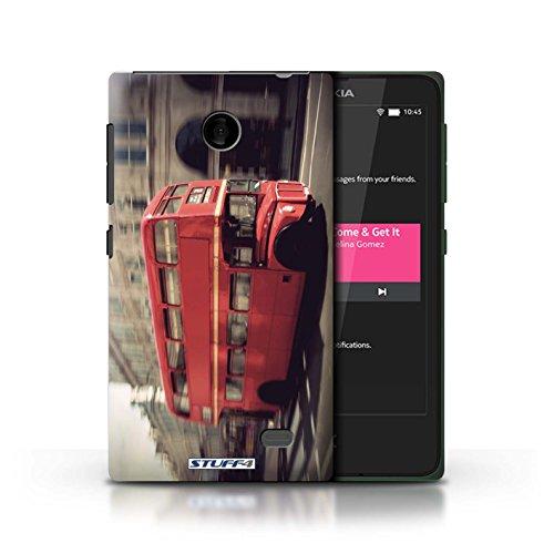 Kobalt® Imprimé Etui / Coque pour Nokia X / Tower Bridge conception / Série Londres Angleterre Rouge Bus