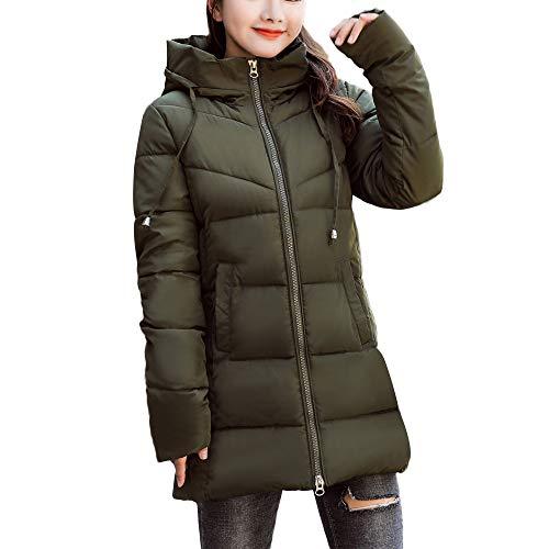 JYC-Abrigo Chaquetas De Mujer De Invierno,Chaquetas De Mujer Bolero,Chaquetas De Mujer Largas Primavera,Chaquetas De Mujer Entalladas,ejército Verde,L
