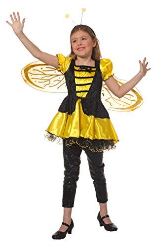 iene-n Kostüm Kinder Biene-n Kinder-Kostüm Biene Kleid Bienchen Maja Karneval Mädchen-Kostüm Größe 116 (Biene Mädchen Kostüm)