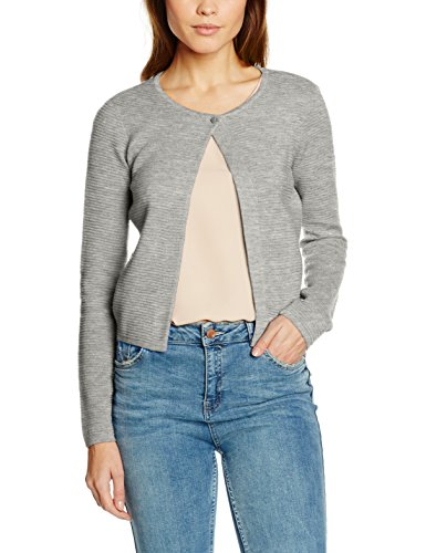 Daisy Langarm-shirt (NIZZIN Damen Bolero Daisy, Gr. Small, Grey)