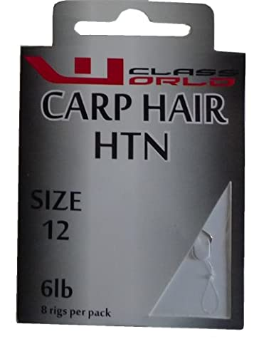 Carp Hair Rig Barbless Hooks to Nylon Size 12 to 6lbs