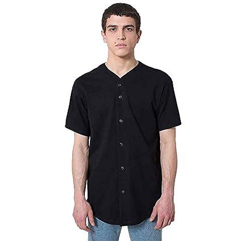 American Apparel - T-shirt - Moderne - Homme - noir - X-Small