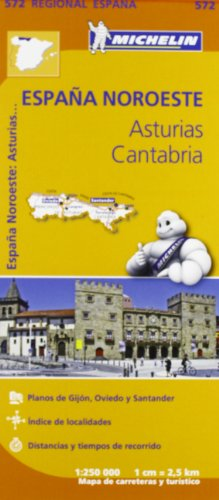 Asturias, Cantabria Regional Map 572 (Michelin Regional Maps) par Michelin