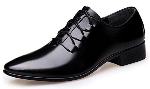 Hylm Hommes Chaussures De Mariage En Dentelle Chaussures De Mariage Décontractés En Robe De Bal Oxford Derby Chaussures Noir