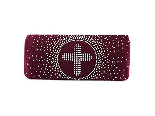 XPGG da sera da donna, borsetta per feste per frizione A good Idea regalo Nero (rosso)