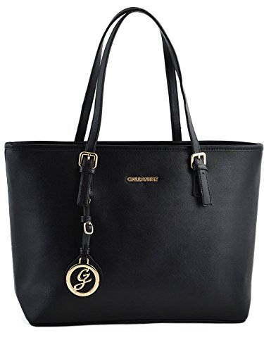 Gallantry Paris - Sac de cours/Sac  main/Sac cabas/Sac port paule femme(Noir Simple).