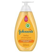 JOHNSON'S Baby Shampoo, Formula Free of Parabens & Dyes, Phthalates, Sulphates, 500ml