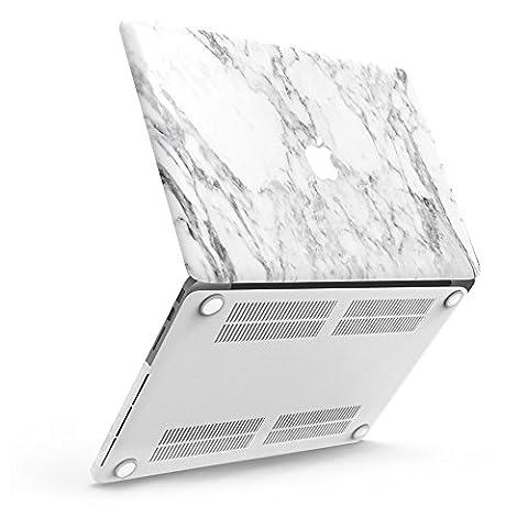 iBenzer Coque rigide en plastique toucher doux pour toutes les tailles de MacBook/MacBook Air 13,3 pouces/Air 11 pouces/MacBook Pro 13 pouces/MacBook Retina 13 pouces/Retina 15 pouces/Retina 12 pouces