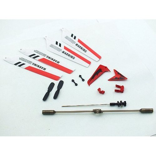 Still Replacement Parts Set for Syma S107 / S107G RC Helicopter, Out-and-out Blades,Of deer Decorations,Besom of a fox frond,Assess Bar,Affix Fastener, Inner Impel. Red Set.