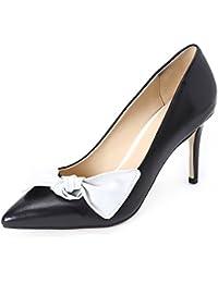 Darco Gianni Damen Pump Schuhe Mit Absatz Womens High Heels Shoes Spitze  Schwarz Leder For Hochzeit… 7a31b83d98