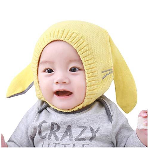 Unisex - Baby Mütze Beanie Strickmütze Unifarbe Wintermütze warme Cartoon Stricken häkeln Ohrenschützer Hut Weihnachten Niedlich Geschenk für Baby Mädchen Jungen Kinder 0-2Jahre alt