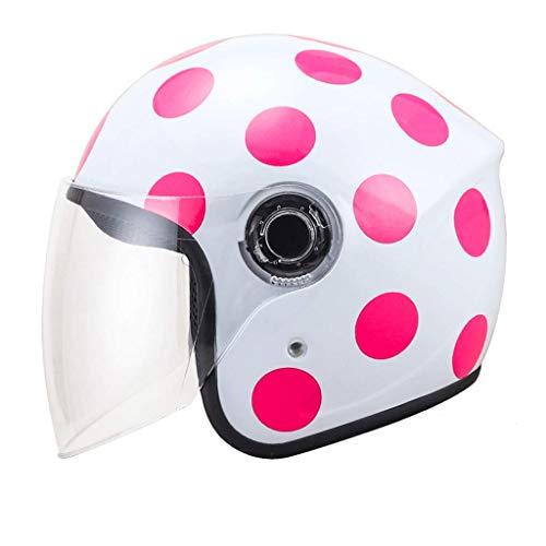 Casco elettrico auto mezzo casco Casco invernale femminile casco maschio quattro stagioni Mezza coperta di uomini e donne casco (colore : 08)