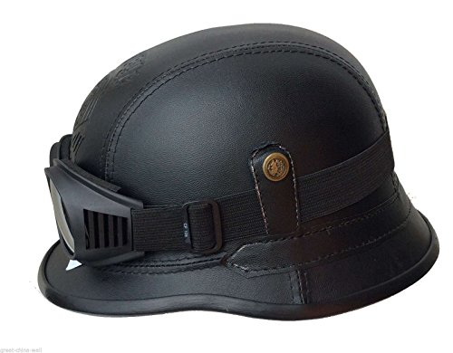 Chopperhelm -XL- + Chrom-Brille Bikerhelm -XL- + Chrom Brille Roller-Helm + Chrom-Brille Jethelm incl. Chrom-Brille