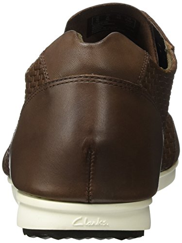 Clarks Triturn Run, Sneakers Basses Homme Marron (Brown Weave)