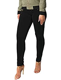 Women's Ladies Stunning Velvet Glam Party Casual Hot Skinny Jeans