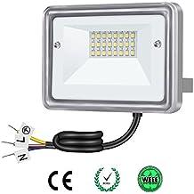 Gosun 10W LED Focos, equivalencia SAP 100W, 220V, 950lm, Blanco Frío 6000K, Resistente al agua IP66 Exteriores / Interiores, luz de seguridad