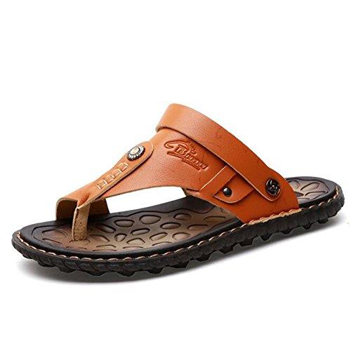 Showlovein Herren Sommer Sandalen Slipper Sports & Outdoor Zehentrenner Flip Flops Thong Pantoffeln Gelb