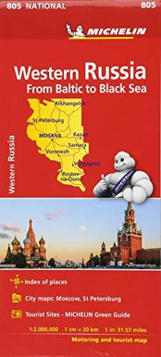 KN.Westl.Russland 805 153330: Straßen-und Tourismuskarte 1:2.000.000 (MICHELIN Nationalkarten) - Moskau Stadtplan