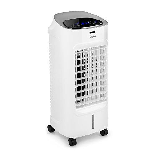 OneConcept Coolster • Rafraîchisseur d'air Ventilateur • 3 Niveaux de Puissance • Débit d'air jusqu'à 320 m³ • Réservoir d'eau de 4 litres • Ioniseur • Capture la poussière • Télécommande • Blanc