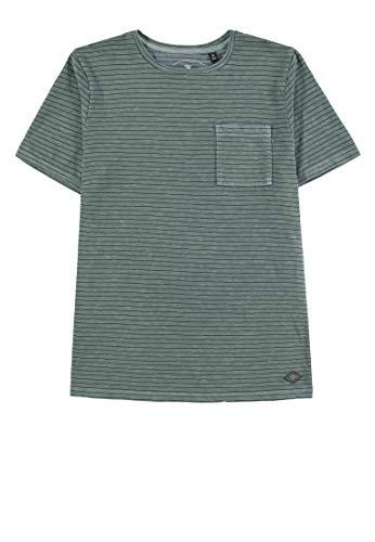 en Striped T-Shirt, Grün (North Atlantic 5205), Herstellergröße: 164 ()