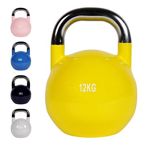 Kettlebell Competition 4 - 30 kg | Professional Studio Qualität | Wettkampf Kugelhantel (12 kg - Gelb)