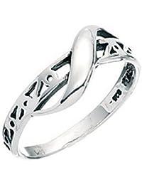 Celtic Ring Sterling Silver Twist Thumb Finger