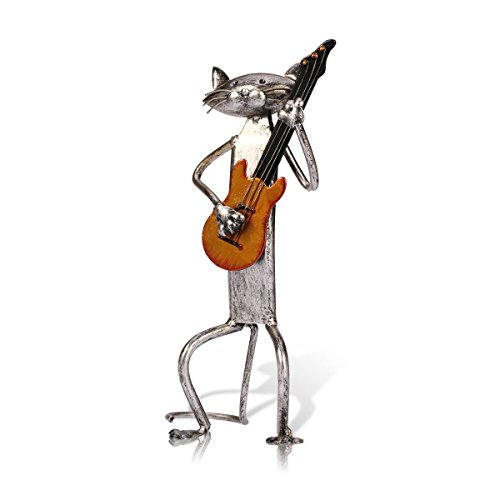 TOOARTS - Decorative Ornament - Punk Cat - Handmade Iron Handicraft for Home Decoration Room Office Room Bar Bar