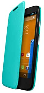 Motorola Flip Shell Cover für Moto G 3G/4G LTE Smartphone türkis