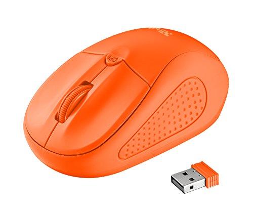 Trust Primo - Ratón inalámbrico, color naranja