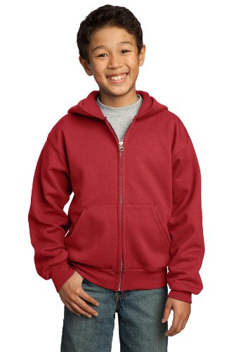 2008 Zip Hoodie (Port & Company Youth Full Zip Fleece Hooded Sweatshirt)
