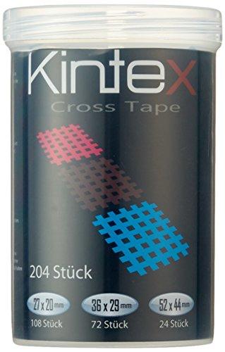Ziatec [2er Set] Kintex Cross Tapes Box mit 204 Pflaster Tape Schutzdose…