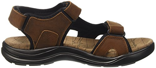 Lumberjack Earth, chaussures à bouts ouverts homme Marrone (Dk Brown/Black)