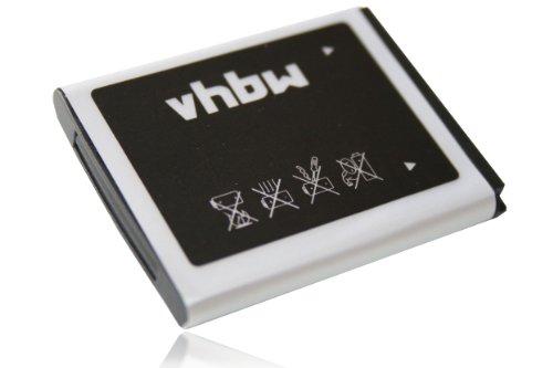 vhbw Li-Ion Akku 700mAh (3.7V) für Handy Smartphone Telefon Samsung S8300 Ultra Touch, SGH-E740, SGH-F110 wie AB483640BE, AB533640BE.