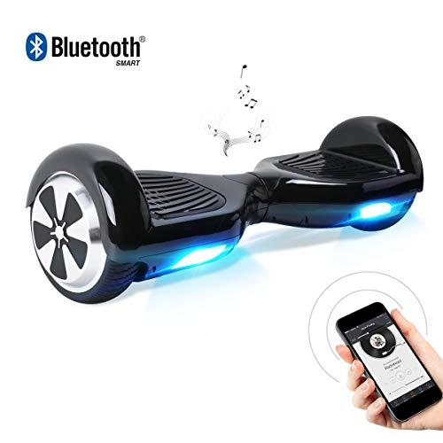 BEBK 6.5 Zoll Hoverboard, Self Balancing Scooter mit Bluetooth Lautsprecher - Tragetasche - LED Lights Elektro Scooter