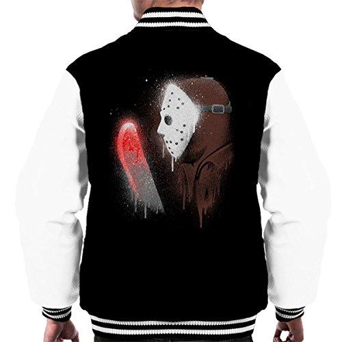 d Jason Friday 13th Men's Varsity Jacket (Jason Voorhees Geburtstag)
