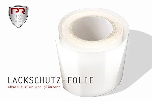 PR Folia Lackschutz-Folie Meterware TRANSPARENTE Steinschlagschutzfolie - Selbstklebend - (63 x 100 cm) Universal Schutzfolie für Ladekantenschutz Einstiege Motorhaube Schweller Autofolie