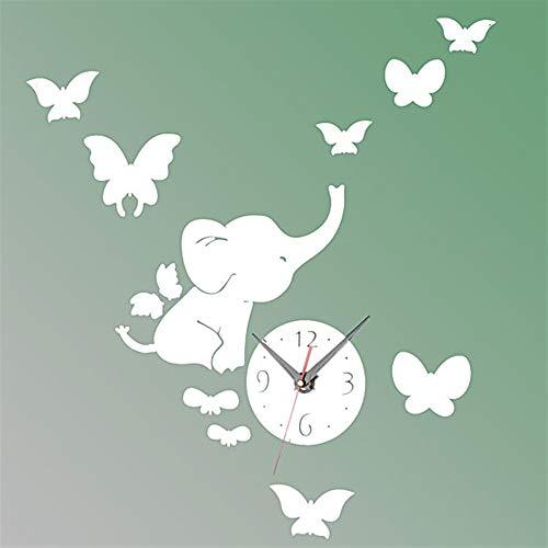 Xinnegen DIY 3D Pegatinas de Pared, Elefantes Mariposa Etiqueta de la Pared...
