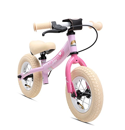 BIKESTAR Kinder Laufrad Lauflernrad Kinderrad für Mädchen ab 2-3 Jahre ★ 10 Zoll Sport Kinderlaufrad ★ Rosa
