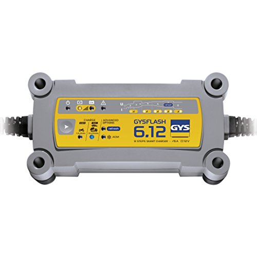 Gys GYS-029378-GYSFLASH GYSFLASH 6.12-Chargeur/Maintien DE CHARGE-INVERTER-12V-LIVRE avec Pinces ET COSSES DE Connexion