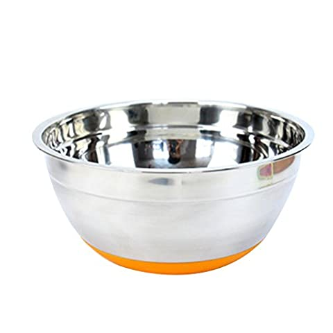 Zhhlinyuan Non-Slip Silicone Base Stainless Steel Mixing Bowl Deep Bowl