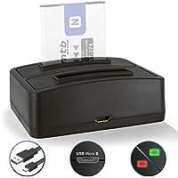 Caricabatteria doppio (USB) NP-BN1 NPBN1 per Sony Cyber-shot DSC-J… T…