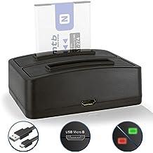 Cargador doble (USB) NP-BN1 NPBN1 para Sony Cyber-shot DSC-J… T… TX.. W.. WX.. QX.. - ver lista de compatibilidad!